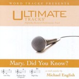 Mary Did You Know? - Medium key performance track w/o background vocals [Music Download]