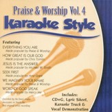 Praise & Worship, Volume 4, Karaoke Style CD