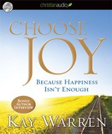 Choose Joy: Because Happiness Isn't Enough - Unabridged Audiobook [Download]