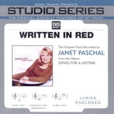Written In Red - Medium key performance track w/o background vocals [Music Download]