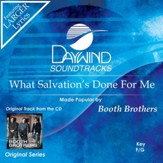 What Salvation's Done For Me [Music Download]