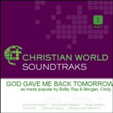 God Gave Me Back Tomorrow [Music Download]