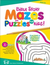 Bible Story Mazes and Puzzles for Kids Christian Puzzle Book & Digital Album Download [Music Download]