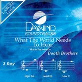 What The World Needs To Hear [Music Download]