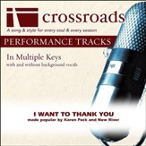 I Want To Thank You (Made Popular By Karen Peck and New River) [Performance Track] [Music Download]