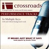 It Means Just What It Says (Made Popular By Greater Vision) [Performance Track] [Music Download]