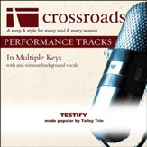 Testify (Made Popular By The Talley Trio) [Performance Track] [Music Download]