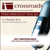 Joy Unspeakable (Performance Track without Background Vocals in C-C#-D) [Music Download]