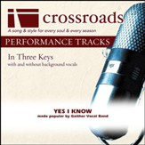 Yes I Know (Performance Track Low with Background Vocals in F) [Music Download]