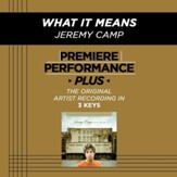 What It Means (Medium Key-Premiere Performance Plus w/o Background Vocals) [Music Download]