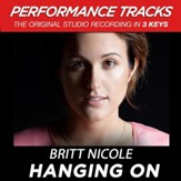 Hanging On (Medium Key Performance Track With Background Vocals) [Music Download]