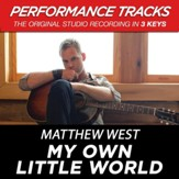 My Own Little World (Medium Key Performance Track With Background Vocals) [Music Download]