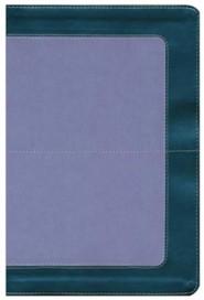 Imitation Leather Gray / Purple Large Print