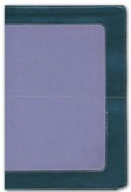 Imitation Leather Gray / Purple Large Print Thumb Index