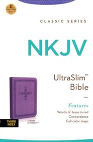 NKJV Ultraslim Bible, Imitation Leather, Lavender Indexed
