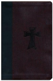 Imitation Leather Brown Cross Design