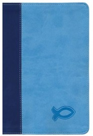 KJV Study Bible for Boys Blue/Light Blue Duravella