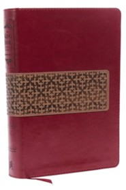 KJV Study Bible: Second Edition--soft leather-look, rich ruby/warm taupe