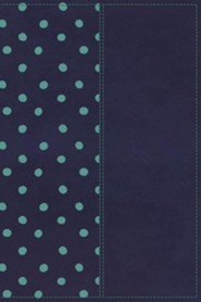 NKJV Gift Bible--soft leather-look, navy/turquoise