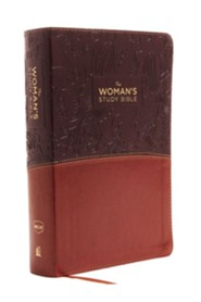 The NKJV Woman's Study Bible, Fully Revised, Imitation Leather, Brown/Burgundy, Full-Color