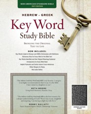 NASB Hebrew-Greek Key Word Study Bible, bonded leather, black-indexed