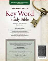 NASB Hebrew-Greek Key Word Study Bible, genuine leather, black-indexed