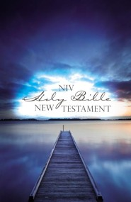 NIV Outreach New Testament--softcover, blue pier