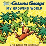 Curious Baby My Growing World (Curious George Fold-Out Board Book and Growth Chart)