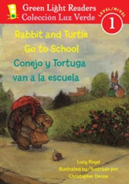 Rabbit and Turtle Go To School Bilingual Spanish/English Edition
