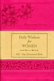Daily Wisdom for Women: 365 Day Devotional Bible--soft leather-look, red
