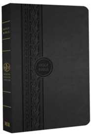 MEV Thinline Reference Bible, Imitation Leather Black