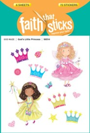 God's Little Princess Stickers