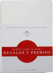 Biblia para Regalos y Premios RVR 1960, Piel Imit. Blanca  (RVR 1960 Gift & Award Bible, White Imitation Leather)