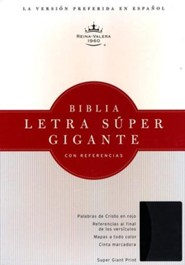 RVR 1960 Biblia Letra S&#250per Gigante, negro/gris s&#237mil piel, RVR 1960 Super Giant Print Reference Bible, Black and Gray LeatherTouch