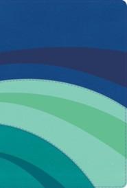 RVR 1960 Biblia de Estudio Arco Iris, azul el&#233ctrico y celeste y turquesa, s&#237mil piel, RVR 1960 Rainbow Study Bible, Royal and Sky and Teal LeatherTouch