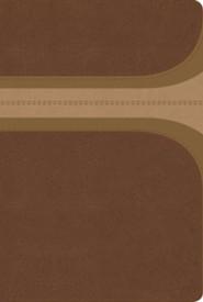 RVR 1960 Biblia de Estudio Arco Iris, canela y damasco, s&#237mil piel, RVR 1960 Rainbow Study Bible, Brown and Tan LeatherTouch - Slightly Imperfect