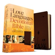 NLT Love Languages Devotional Bible, soft leather-look