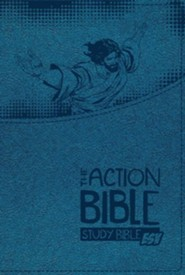 ESV Action Bible Study Bible--imitation leather, blue