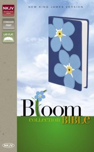 NKJV Bloom Collection Bible, Italian Duo-Tone, Forget Me Not