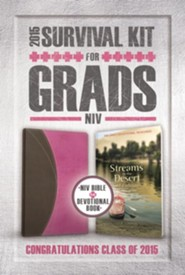 NIV 2015 Survival Kit for Grads, Pink