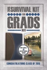 NIV 2015 Survival Kit for Grads, Desert Blue