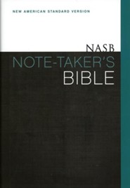 NASB Note-Taker's Bible, Hardcover