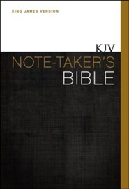 KJV Note-Taker's Bible, Hardcover  -