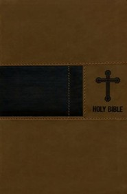 NIV Gift Bible--soft leather-look, brown (red letter edition)