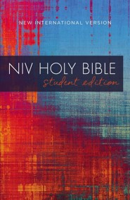 NIV Outreach Bible, Student Edition--softcover, red/blue graphic