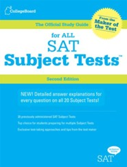 The Official Study Guide for All SAT Subject Tests, Book and Audio CD's, 2nd Edition
