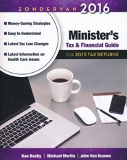 Zondervan 2016 Minister's Tax and Financial Guide: For 2015 Tax Returns