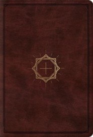 ESV Student Study Bible, TruTone, Mahogany with Crown and Cross Design - Imperfectly Imprinted Bibles