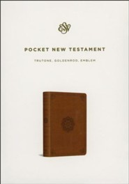 ESV Pocket New Testament with Psalms and Proverbs TruTone Imitation Leather, Goldenrod, Emblem Design