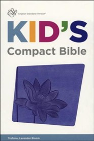 ESV Kid's Compact Bible, TruTone Imitation Leather, Lavender Bloom